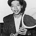 Tennis Star Althea Gibson by Fred Palumbo