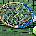 Tennis - Vintage Tennis Racquet by Paul Ward
