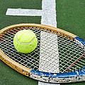 Tennis - Wooden Tennis Racquet by Paul Ward