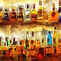 Tequila Bar At Aquila Restayrant by Yury Malkov