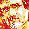 Terence Mckenna Watercolor Portrait.2 by Fabrizio Cassetta