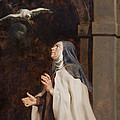 Teresa Of Avilas Vision Of A Dove by Peter Paul Rubens
