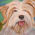 Terrier Portrait by Tracey Harrington-Simpson