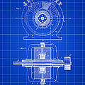 Tesla Alternating Electric Current Generator Patent 1891 - Blue by Stephen Younts