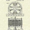Tesla Motor 1888 Patent Art by Prior Art Design