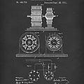 Tesla Motor Sept 1891 Patent Art Black by Prior Art Design
