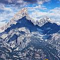 Teton Range And Two Trees by Vishwanath Bhat