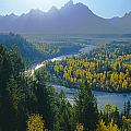 2m9301-teton Range From Snake River Overlook by Ed  Cooper Photography
