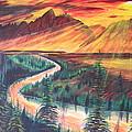 Teton Sunset by Eric Johansen