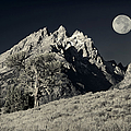 Tetons Black And White by Greg Norrell