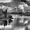 Tetons In Black And White by Dan Sproul