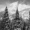 Tetons In Snow by Deanna Cagle
