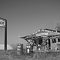 Texaco Country Store In Black And White by T Lowry Wilson