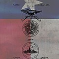 Texas Badge Patent On Texas Flag by Dan Sproul