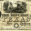 Texas Banknote, 1840 by Granger