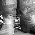 Texas Boots Portrait - Bw 02 by Pamela Critchlow