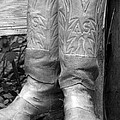 Texas Boots Portrait - Bw 03 by Pamela Critchlow