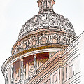 Texas Capitol Sketch by David and Carol Kelly