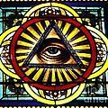 Eye Of Providence Texas Church Window by Chris Berry