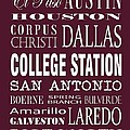 Texas Cities College Station by Debbie Karnes