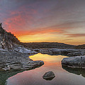 Texas Hill Country Images - Pedernales Falls February Sunrise 3  by Rob Greebon