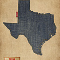 Texas Map Denim Jeans Style by Michael Tompsett