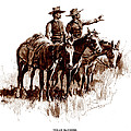Texas Rangers, Lithograph Of A Wash by Everett