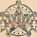 Texas Rangers Poster Art by Florian Rodarte