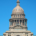 Texas State Capitol With Six Flags by Connie Fox
