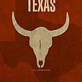 Texas State Facts Minimalist Movie Poster Art  by Design Turnpike
