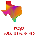 Texas State Map Collection 2 by Andee Design