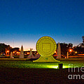 Texas Tech Seal At Night by Mae Wertz