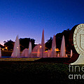 Texas Tech University Seal And Blue Sky by Mae Wertz