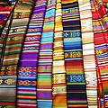 Textile Market Otavalo Ecuador by Kurt Van Wagner