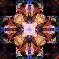Textured Geometric Mandala by Phil Perkins