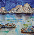 Textured Lakescape by Renee Chastant