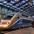 Tgv At The Train Station  by Paris  France