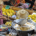 Thai Floating Market No 2 - Deep Fried Bananas by Paul W Sharpe Aka Wizard of Wonders