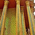 Thai-kmer Pagoda Columns At Grand Palace Of Thailand In Bangkok by Ruth Hager