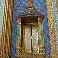 Thai-kmer Pagoda Window At Grand Palace Of Thailand In Bangkok by Ruth Hager