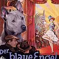 Thai Ridgeback Art Canvas Print - Der Blaue Engel Movie Poster by Sandra Sij