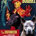 Thai Ridgeback Art Canvas Print - The Enforcer Movie Poster by Sandra Sij