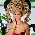 Thai Woman In Traditional Dress by Fototrav Print