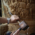 Thai Woodworker by Inge Johnsson