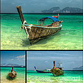 Thailand Longboats by Adrian Evans