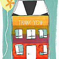 Thank You Card by Linda Woods