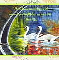 Thank You Sentiments-swans by Carol Wisniewski