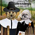 Thanksgiving From The Dogs by Kathy Tarochione