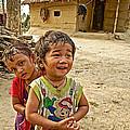 Tharu Village Children Love To Greet Us-nepal- by Ruth Hager