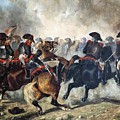 The 8th Napoleonic Cavalry Regiment Charging Into Battle  by Celestial Images